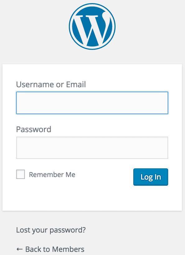 Installing WordPress Login