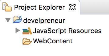 Marketing Site Eclipse project explorer