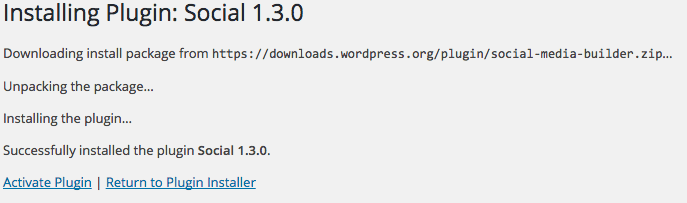 WordPress Plugins install status