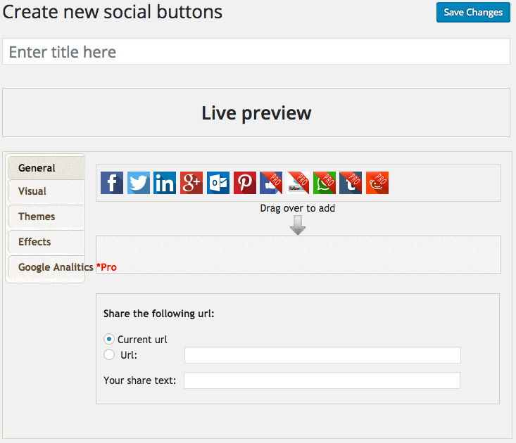 WordPress Plugins Create New Social Media Buttons