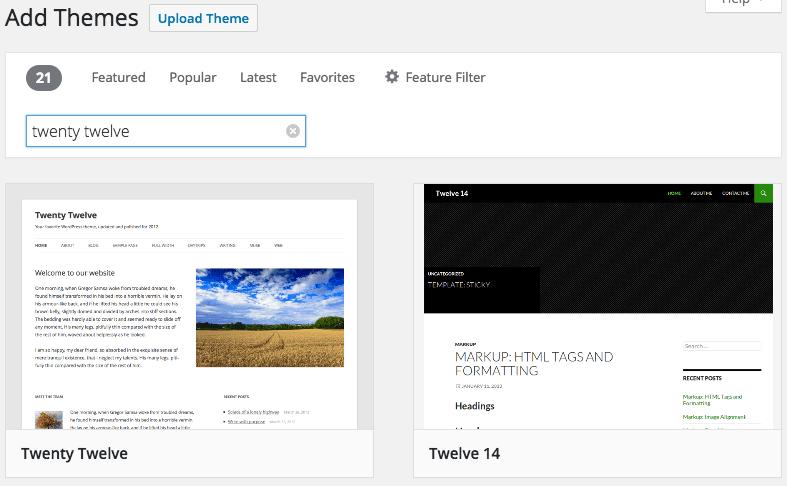 WordPress Themes Add