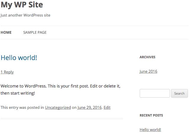 WordPress Themes Example twenty twelve theme
