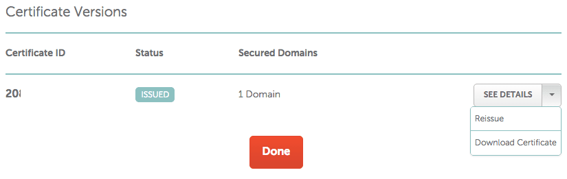NameCheap Download Cert