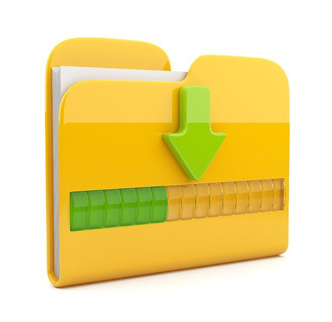 File folder with progress bar