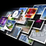 A pile of royalty free images