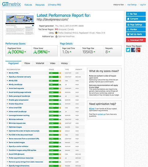 gtmetric Evaluate results